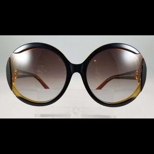 Missoni Brown Round Sunglasses